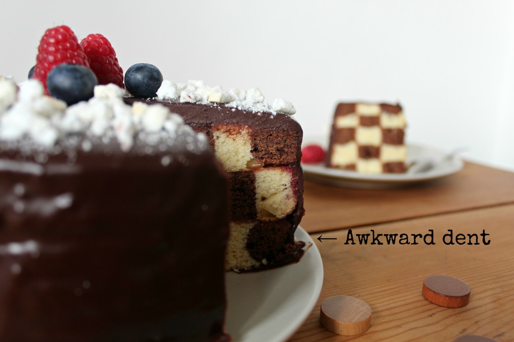 Checkers cake 1 bis