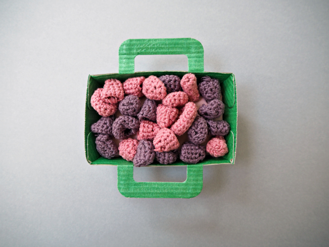 Crochet raspberries 3