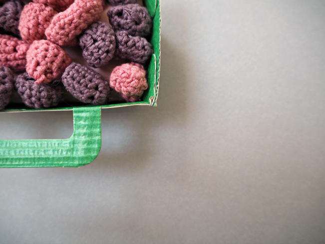Crochet raspberries 1