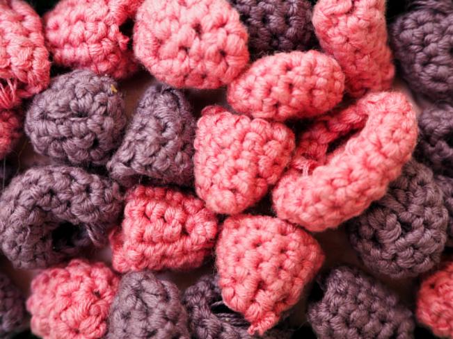 Crochet raspberries 2