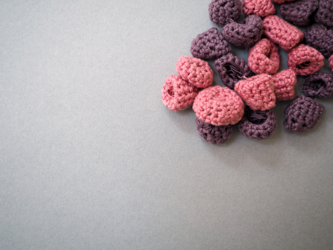 Crochet raspberries 5