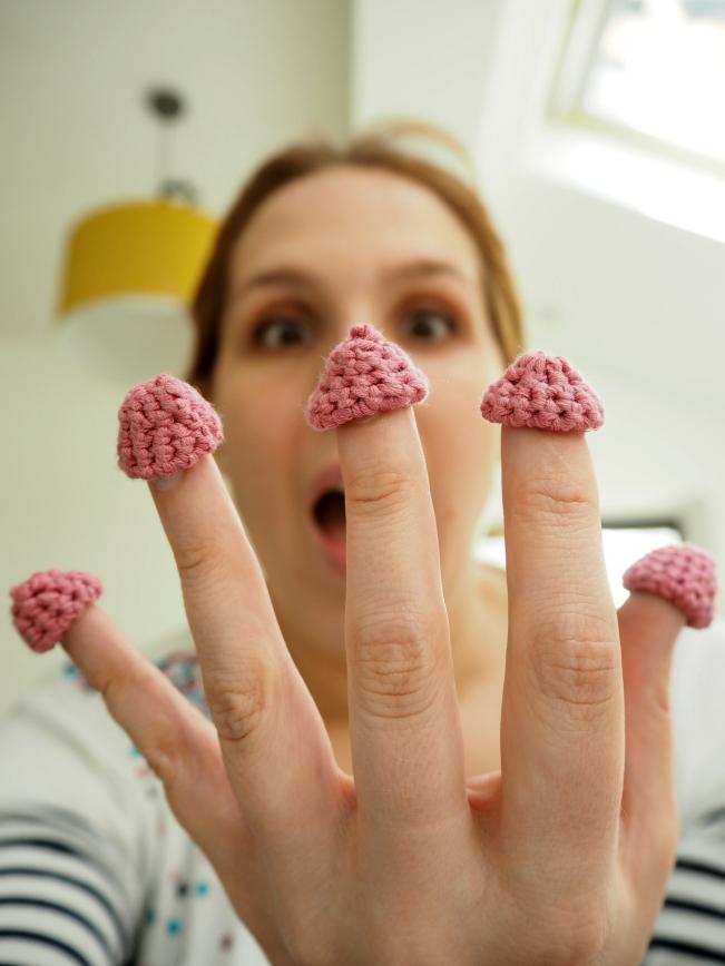 Crochet raspberries 6
