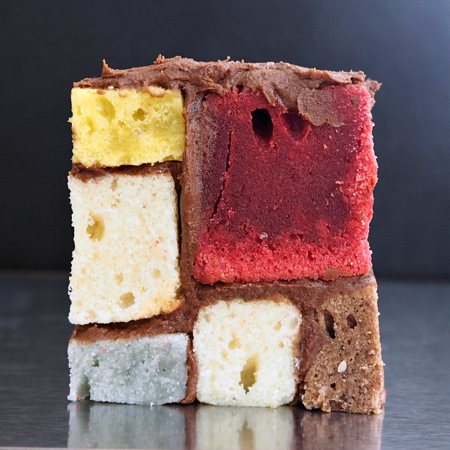 Cake Art Netherlands : My Mondrian cake   recipe - The Confetti Journal