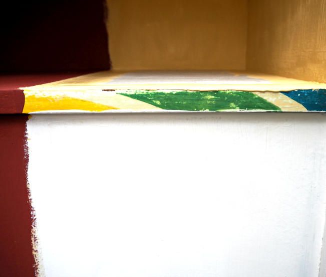Mondrian chest of drawers, desk, furniture, painting, modern art, Dutch painter, bureau Mondrian